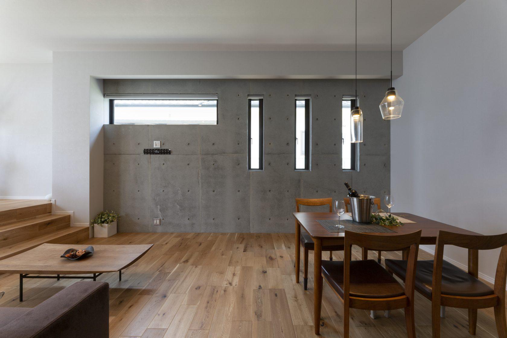 MOLSのシンプルに暮らすコンクリートの平屋実例写真